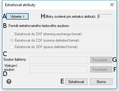 Export atributů