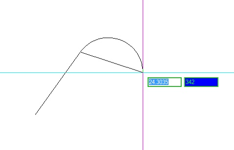Křivka - obloukový segment