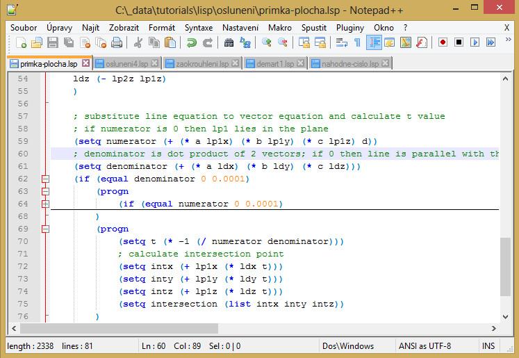 LISP vNotepad++
