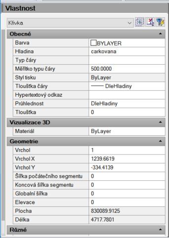 Zobrazení plochy křivky ve 4M CAD