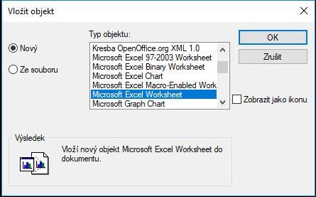 Vložení Excelové tabulky do 4MCAD
